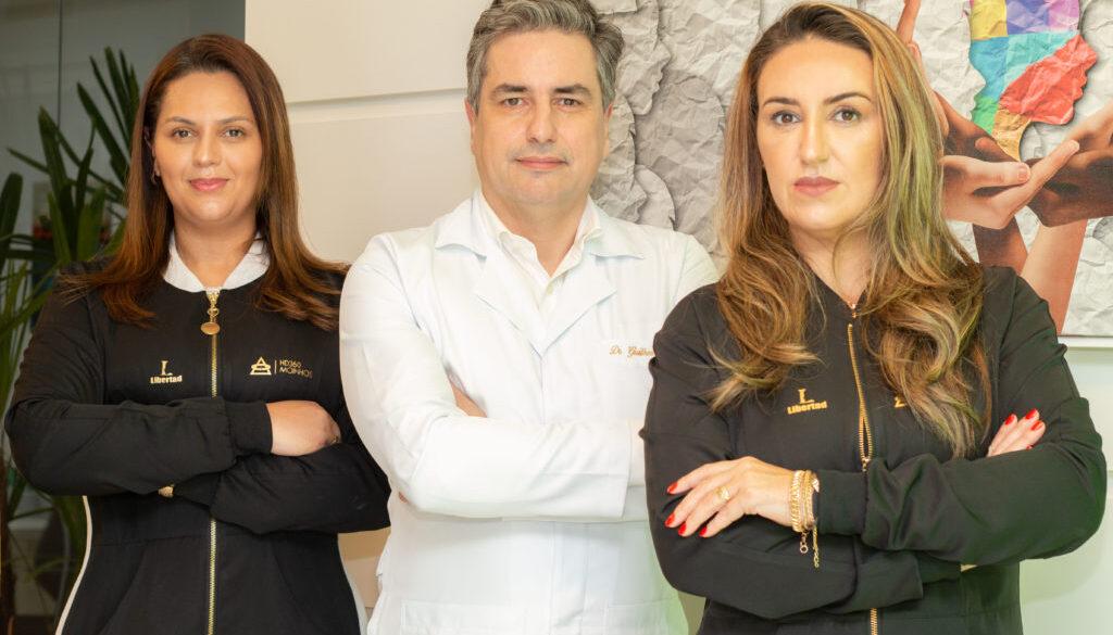 Fabiane Correa de Lima, Guilherme Sander e Carla Correa de Lima